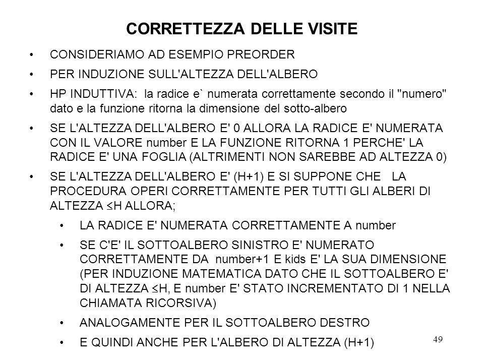 CORRETTEZZA DELLE VISITE