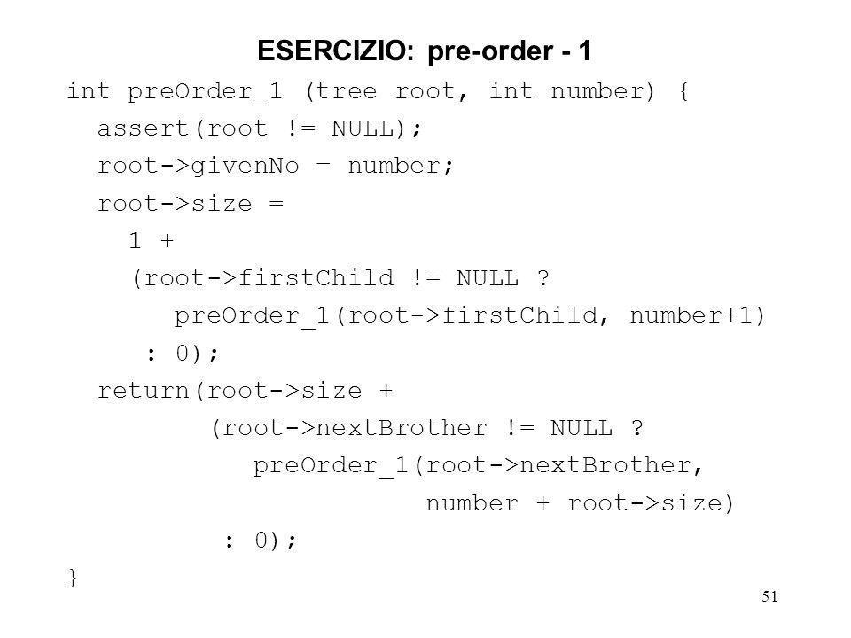 ESERCIZIO: pre-order - 1