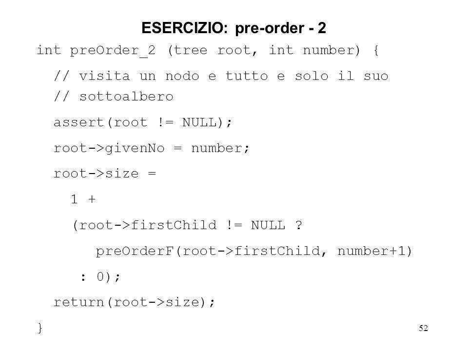 ESERCIZIO: pre-order - 2