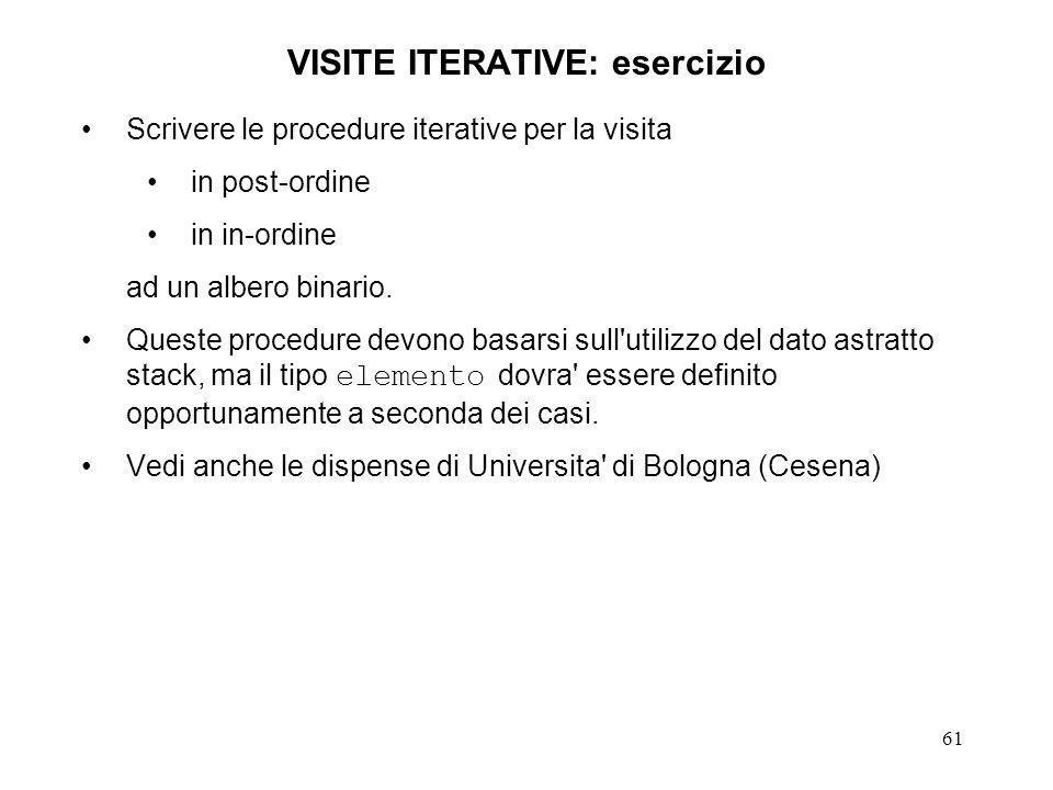VISITE ITERATIVE: esercizio