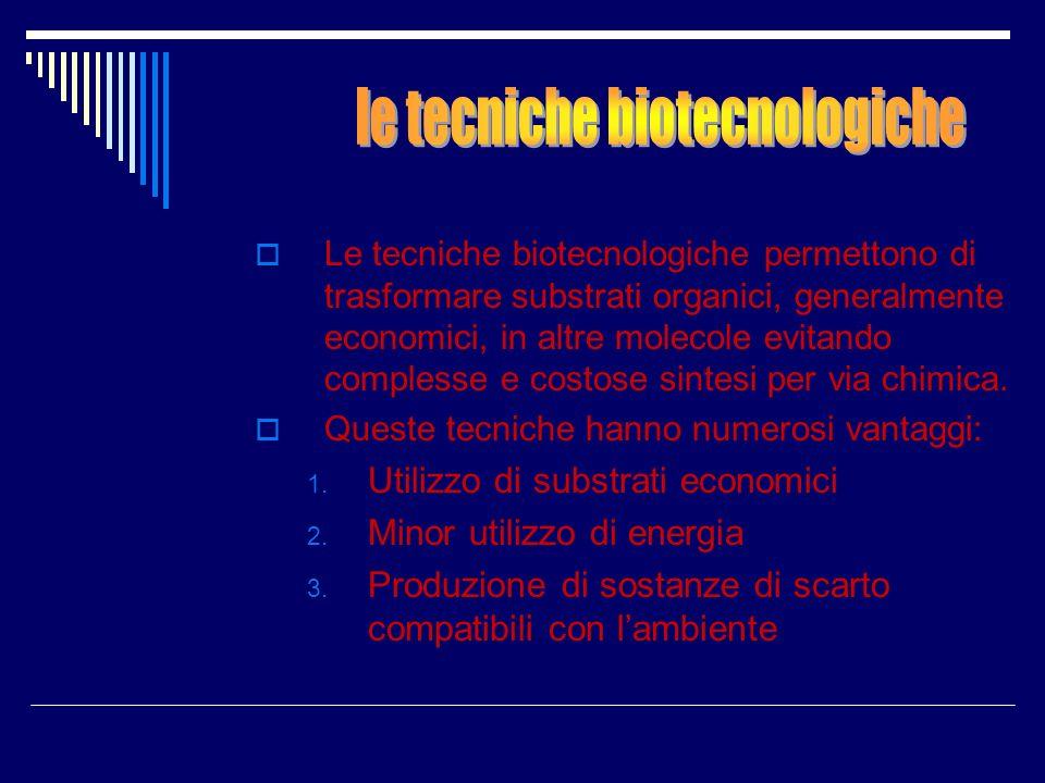 le tecniche biotecnologiche