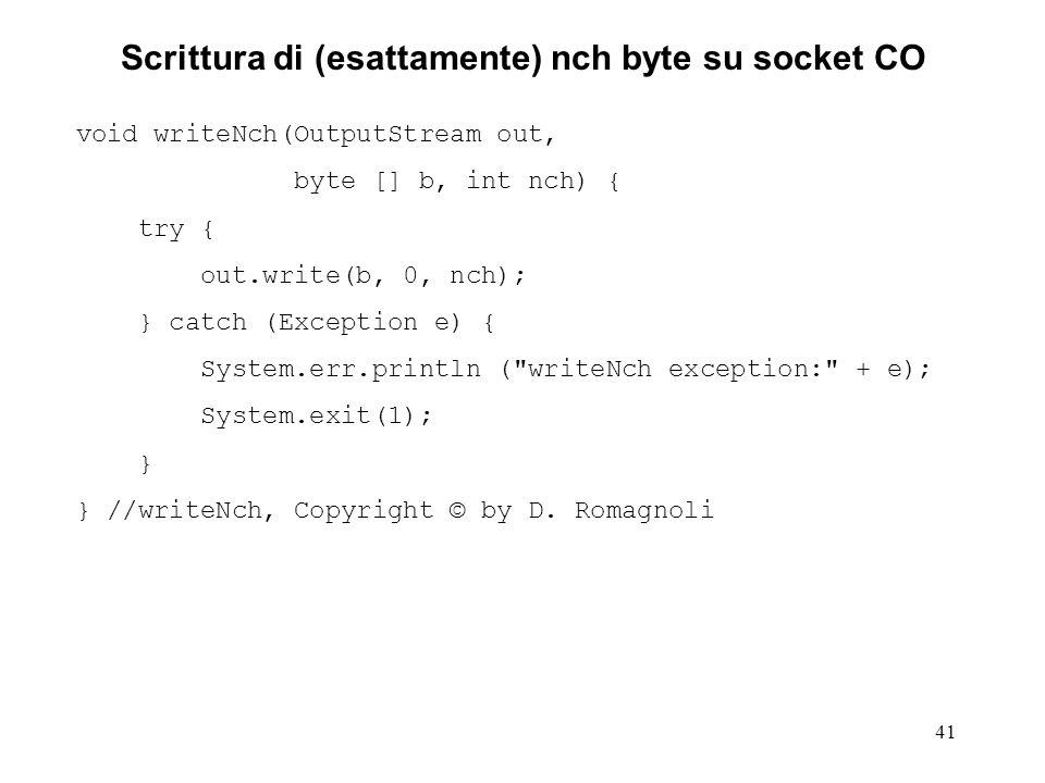 Scrittura di (esattamente) nch byte su socket CO
