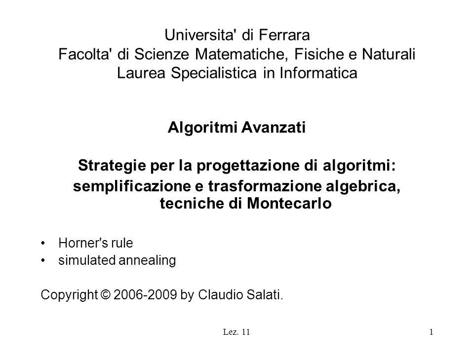 Strategie per la progettazione di algoritmi:
