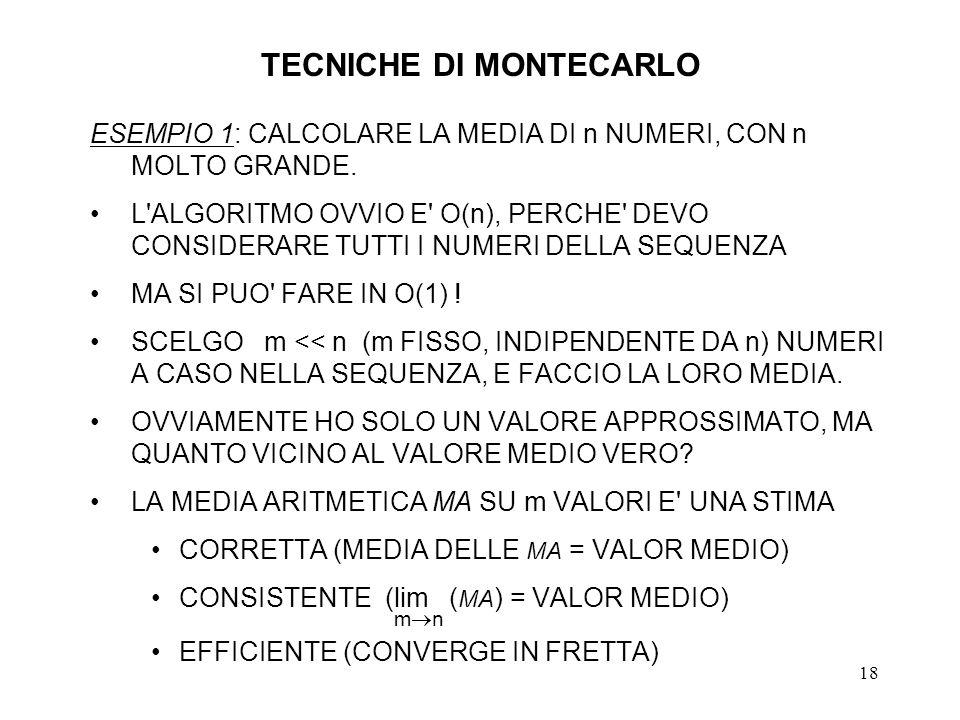 TECNICHE DI MONTECARLO