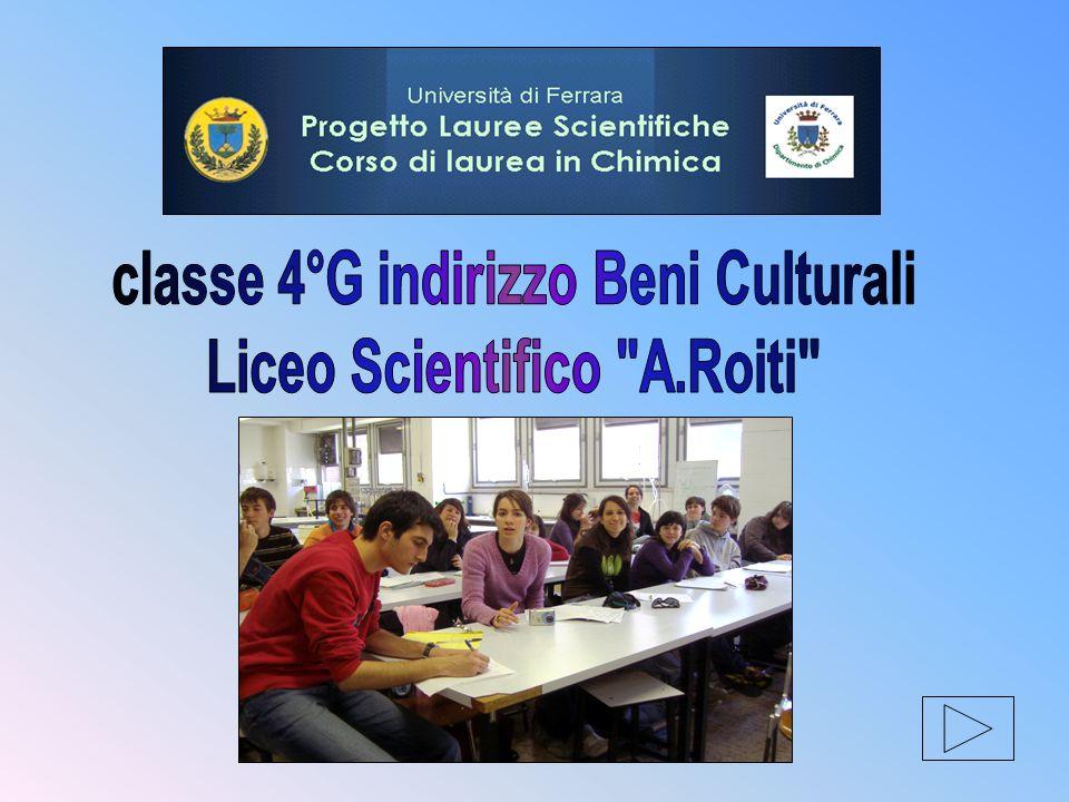 classe 4°G indirizzo Beni Culturali Liceo Scientifico A.Roiti