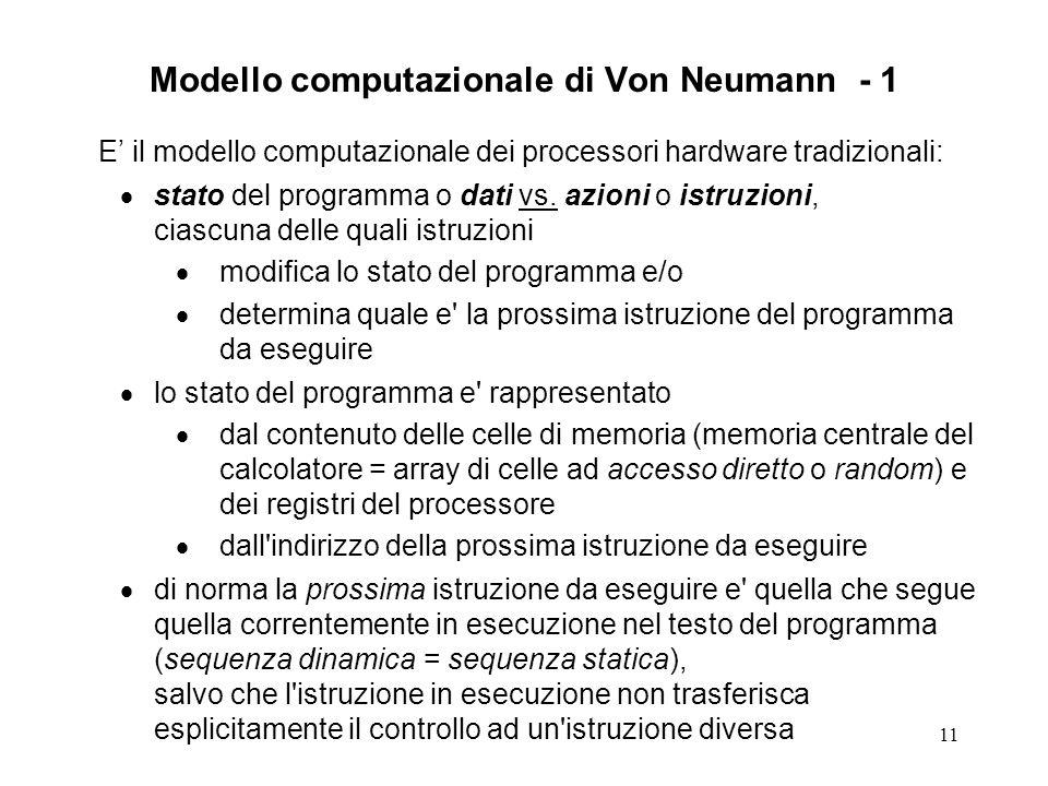 Modello computazionale di Von Neumann - 1