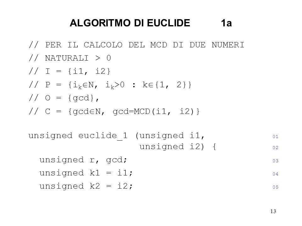 ALGORITMO DI EUCLIDE 1a // PER IL CALCOLO DEL MCD DI DUE NUMERI