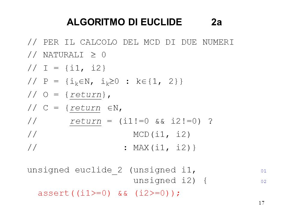 ALGORITMO DI EUCLIDE 2a // PER IL CALCOLO DEL MCD DI DUE NUMERI