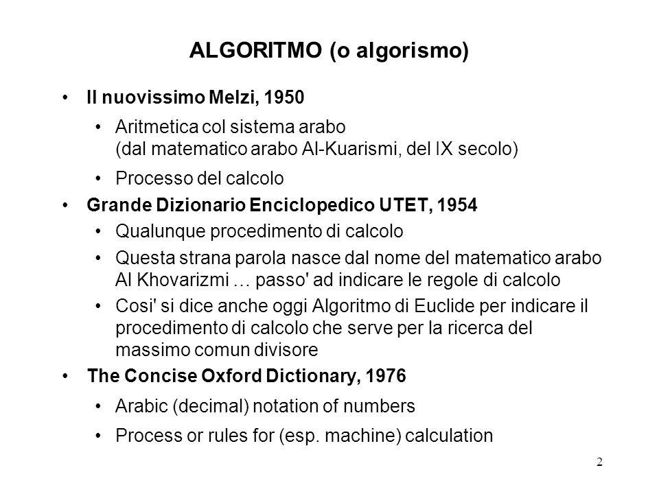 ALGORITMO (o algorismo)