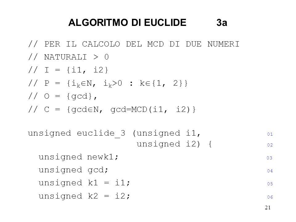 ALGORITMO DI EUCLIDE 3a // PER IL CALCOLO DEL MCD DI DUE NUMERI