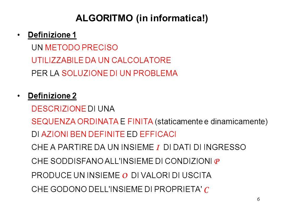 ALGORITMO (in informatica!)