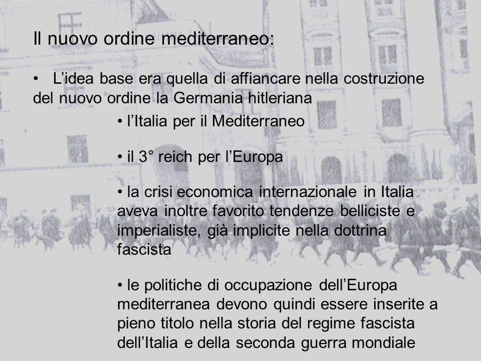 Il nuovo ordine mediterraneo:
