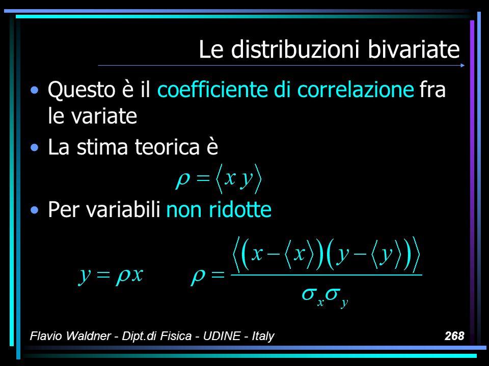 Le variate La variata discreta può essere definita da una tabella