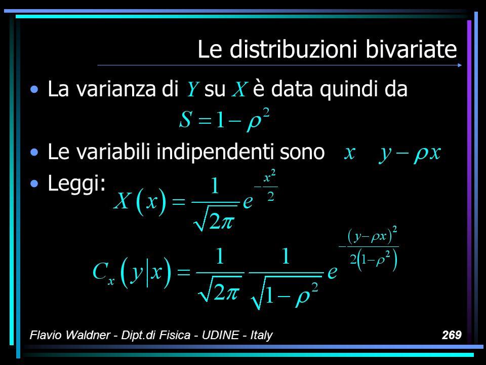 Le variate 1 0.167 2 3 4 5 6 Flavio Waldner - Dipt.di Fisica - UDINE - Italy