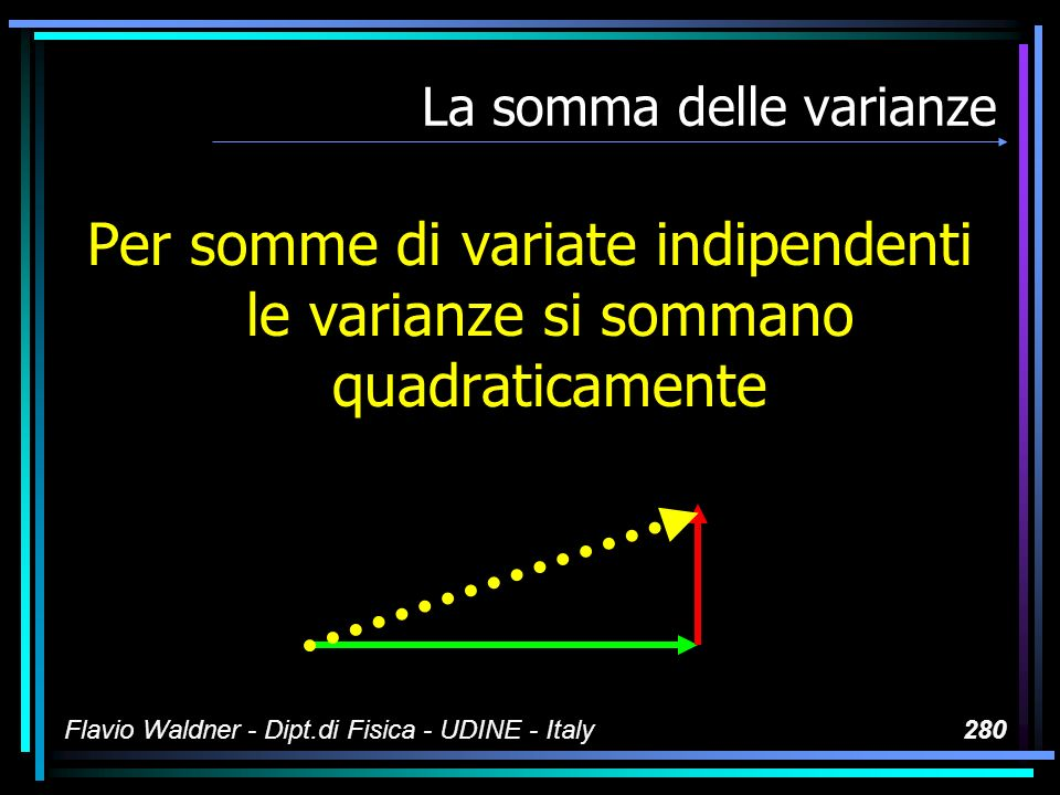 Le variate Flavio Waldner - Dipt.di Fisica - UDINE - Italy