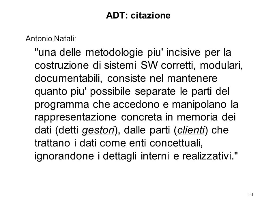 ADT: citazione Antonio Natali: