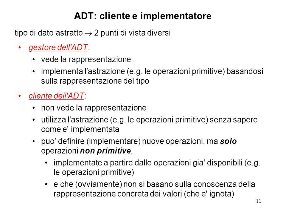 ADT: cliente e implementatore