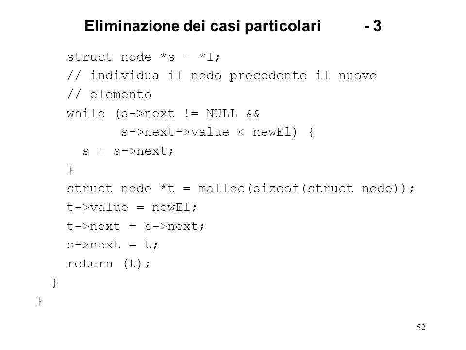 Eliminazione dei casi particolari - 3