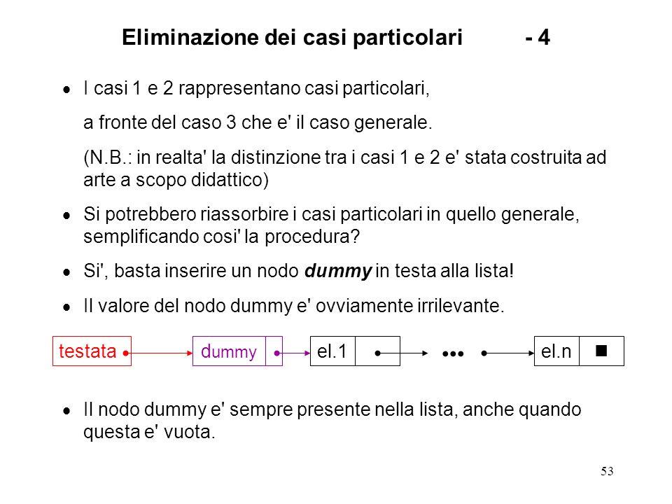 Eliminazione dei casi particolari - 4