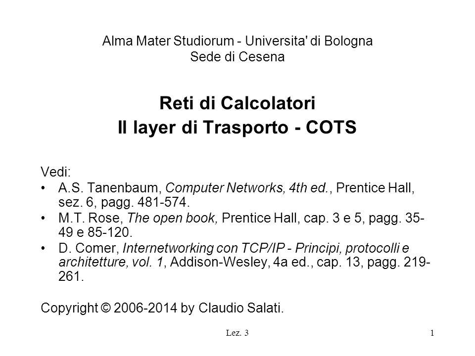 Alma Mater Studiorum - Universita di Bologna Sede di Cesena