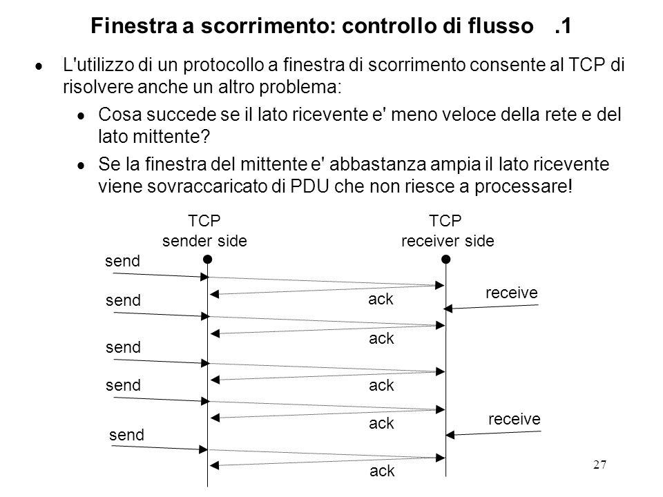 Finestra a scorrimento: controllo di flusso .1