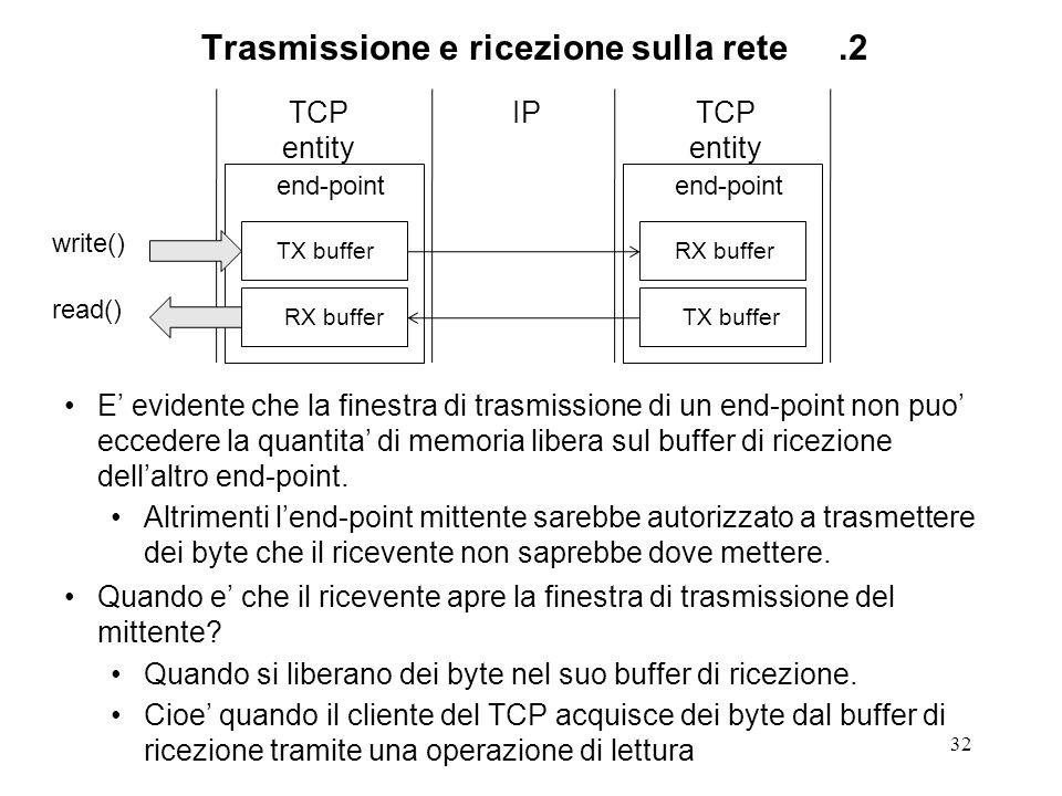Trasmissione e ricezione sulla rete .2