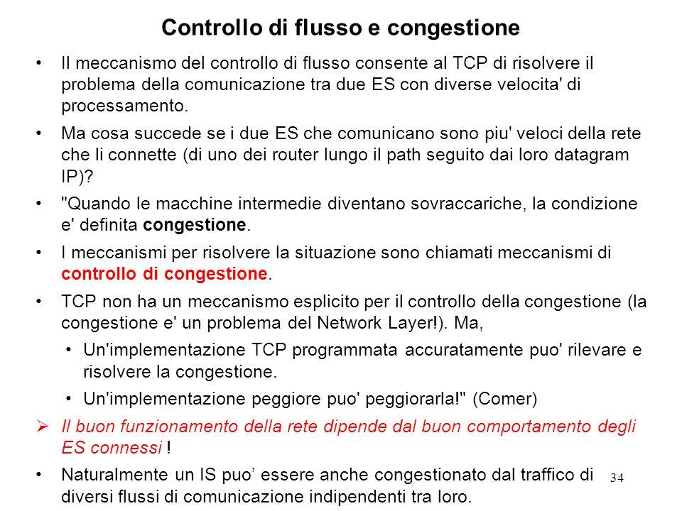 Controllo di flusso e congestione