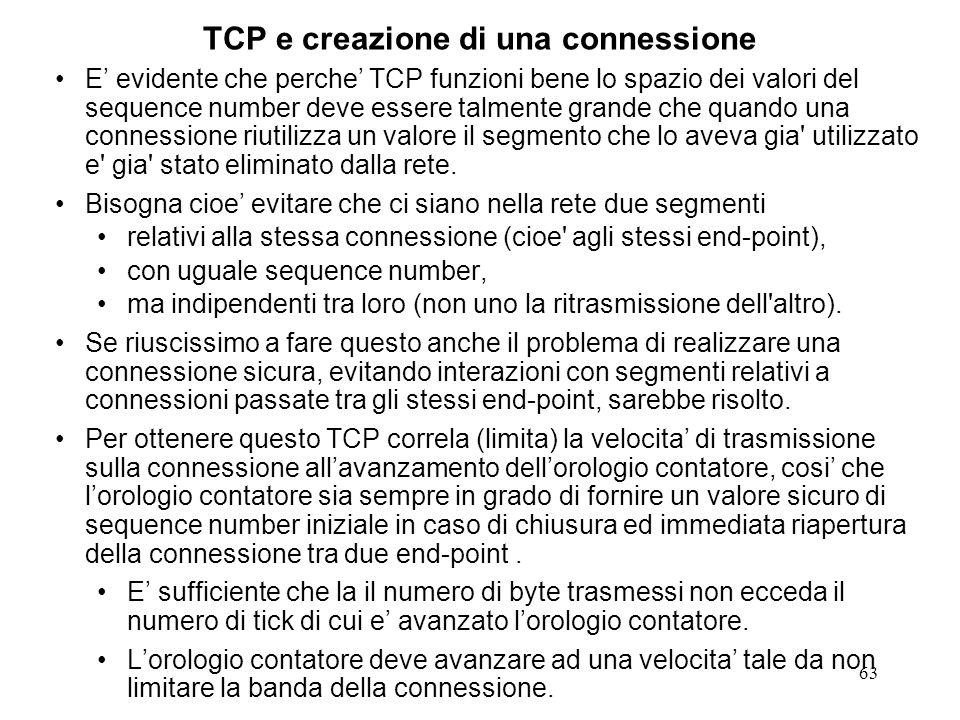 TCP e creazione di una connessione