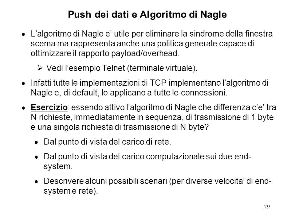 Push dei dati e Algoritmo di Nagle