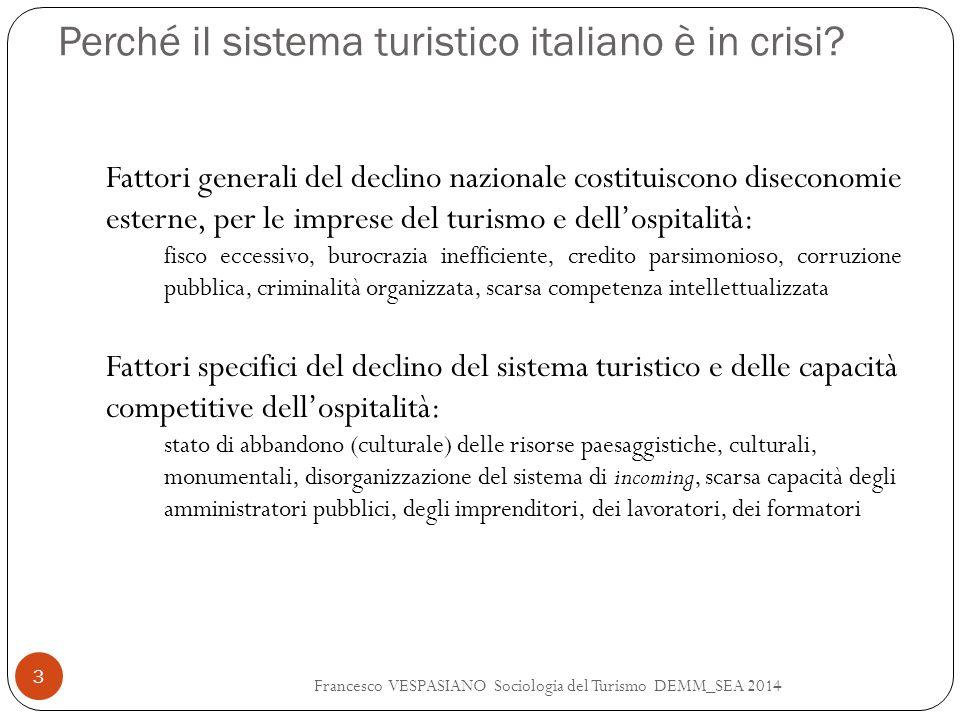 Perché il sistema turistico italiano è in crisi