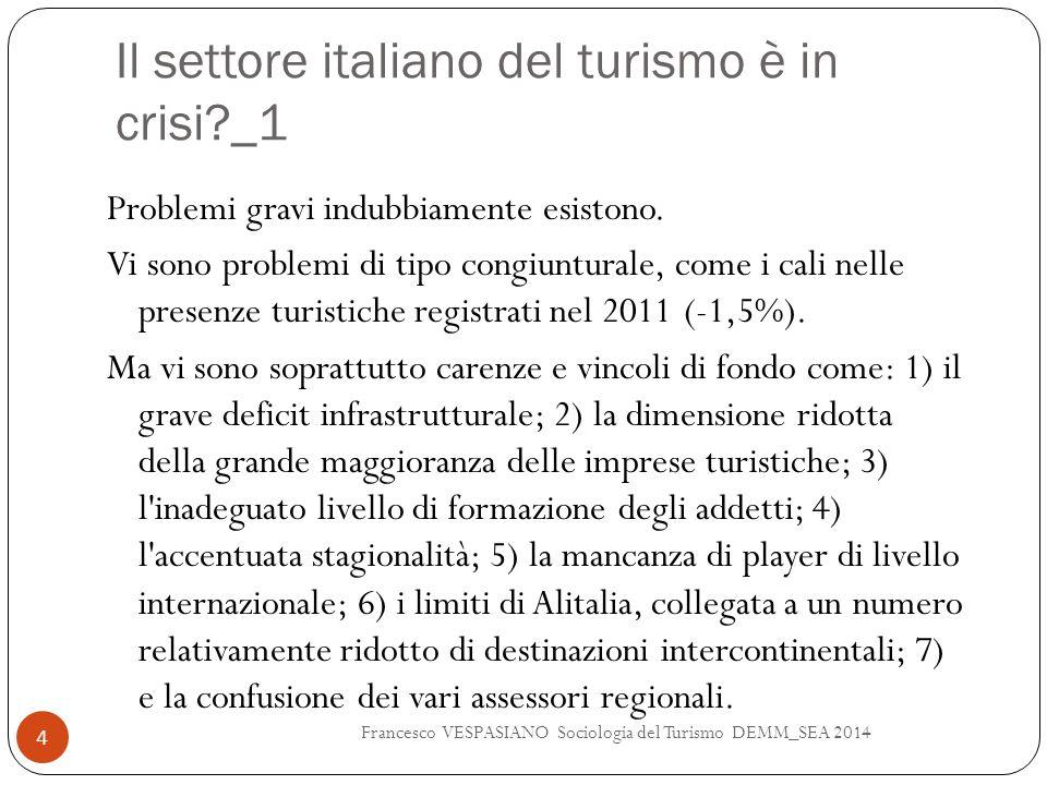 Il settore italiano del turismo è in crisi _1
