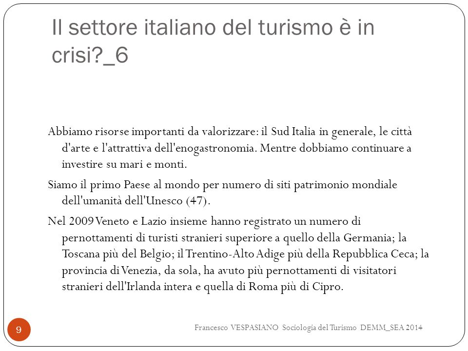 Il settore italiano del turismo è in crisi _6