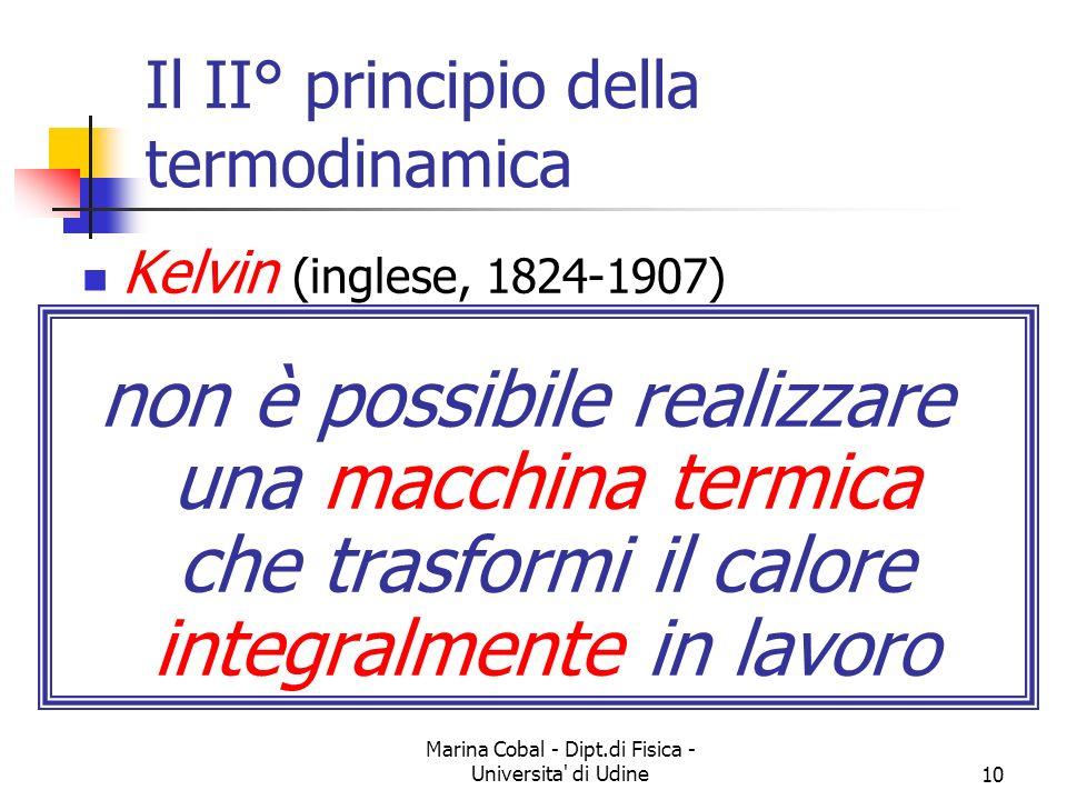 Il II° principio della termodinamica