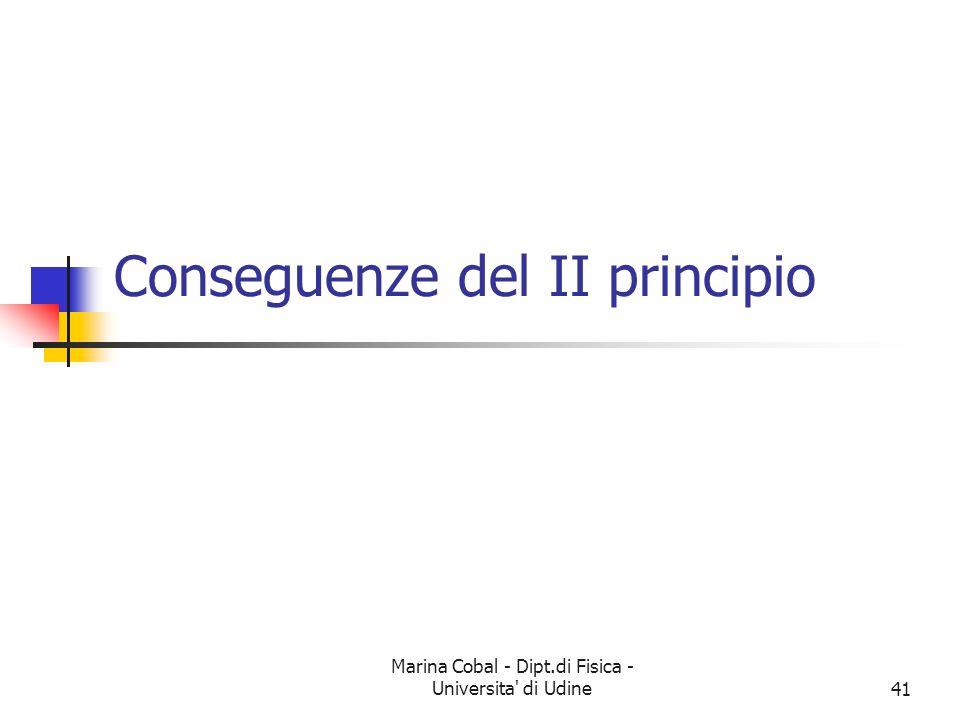 Conseguenze del II principio