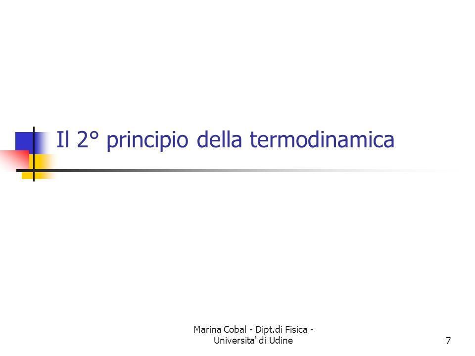 Il 2° principio della termodinamica