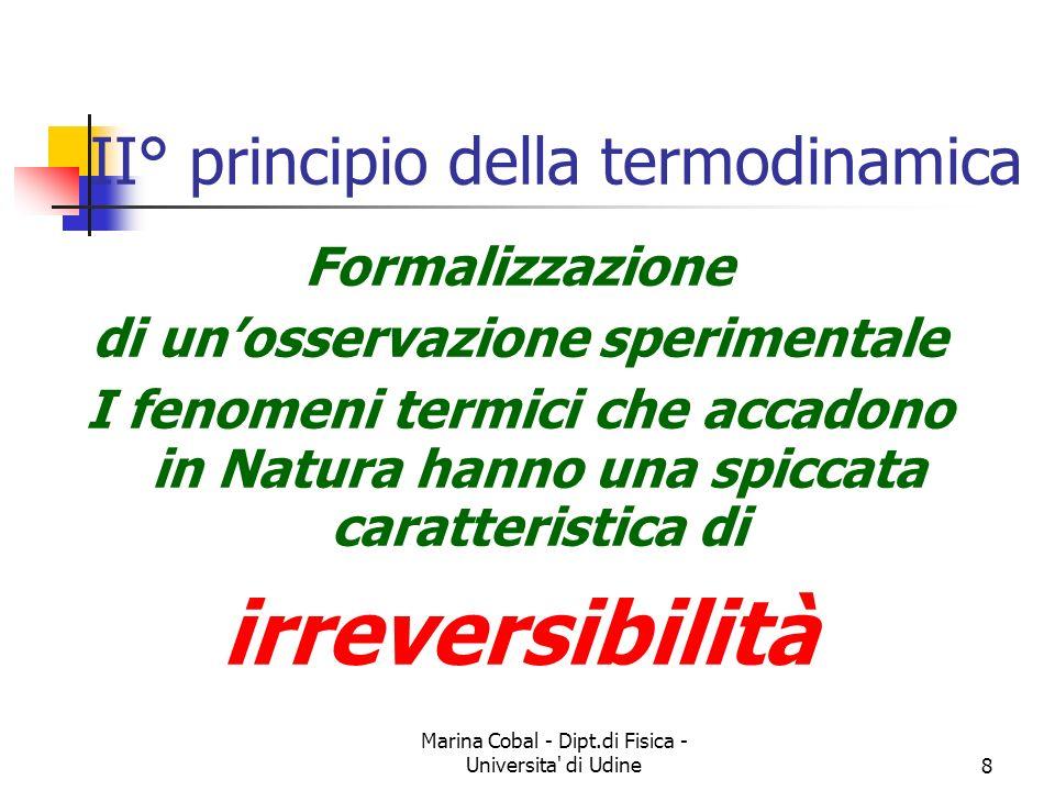 II° principio della termodinamica