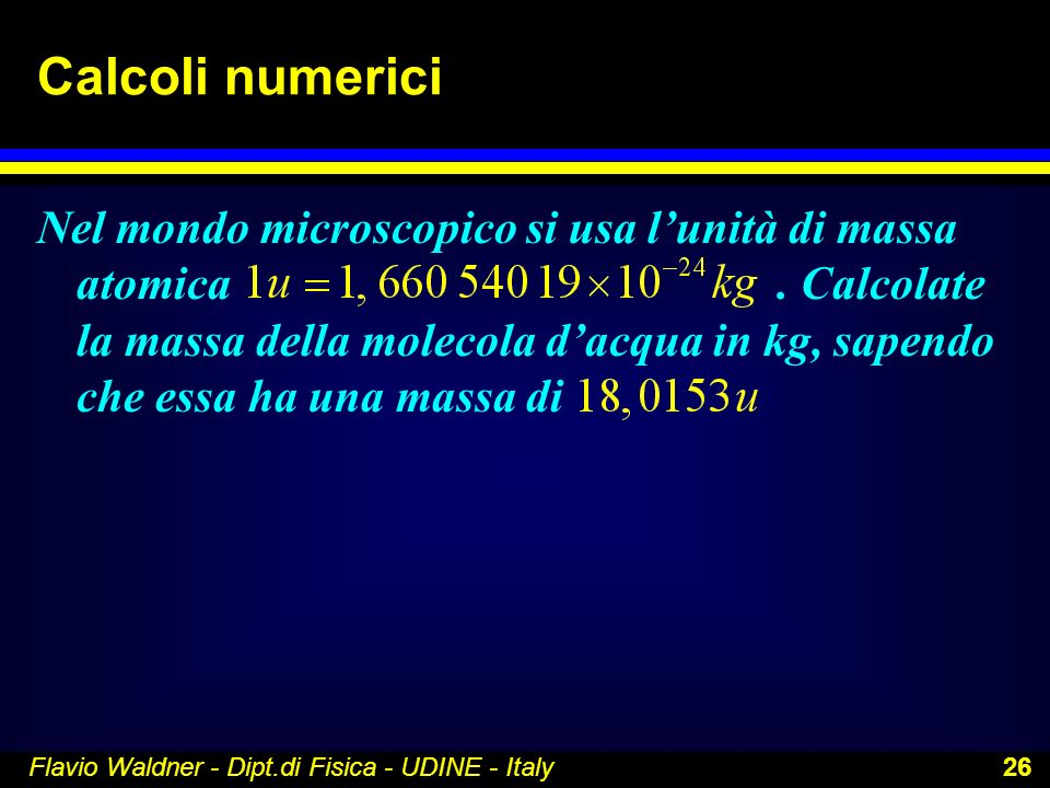 Calcoli numerici