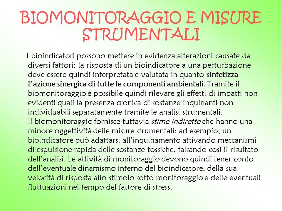 BIOMONITORAGGIO E MISURE STRUMENTALI