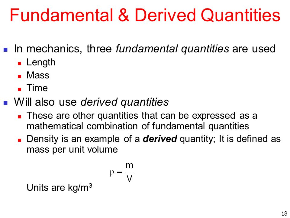 Fundamental & Derived Quantities