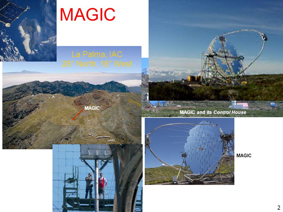 MAGIC La Palma, IAC 28° North, 18° West Telescopio Nazionale Galileo