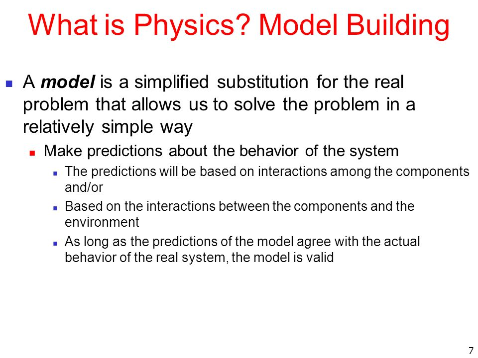 What is Physics Model Building