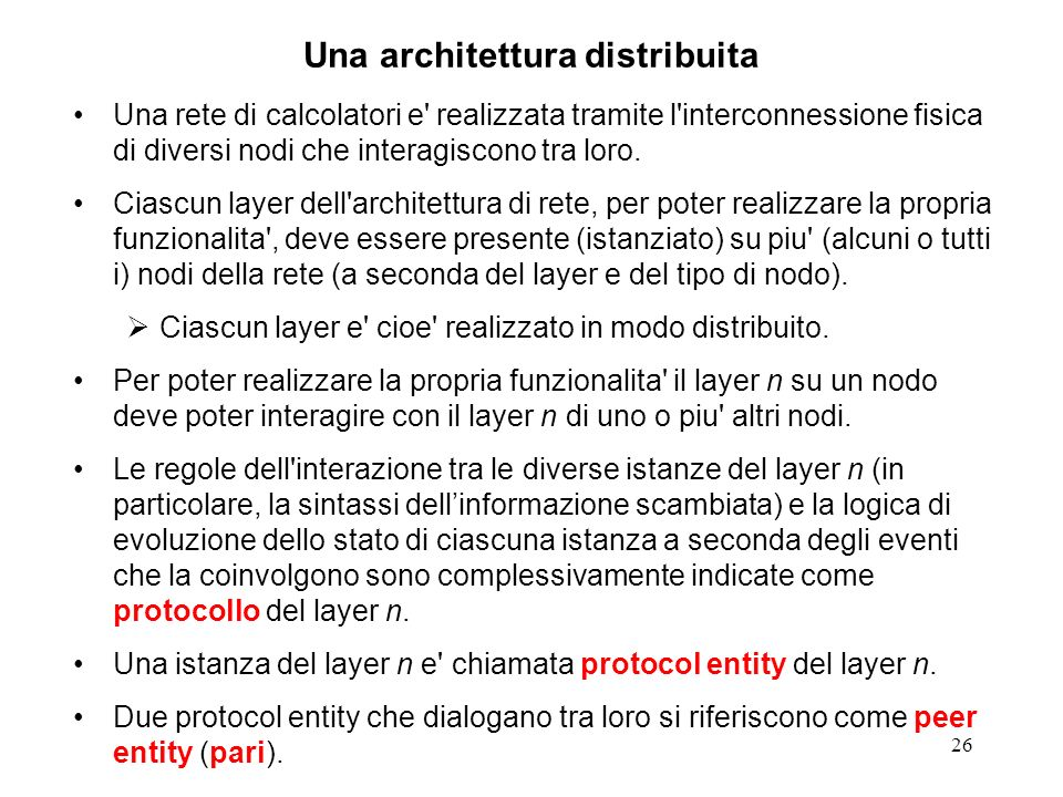 Una architettura distribuita
