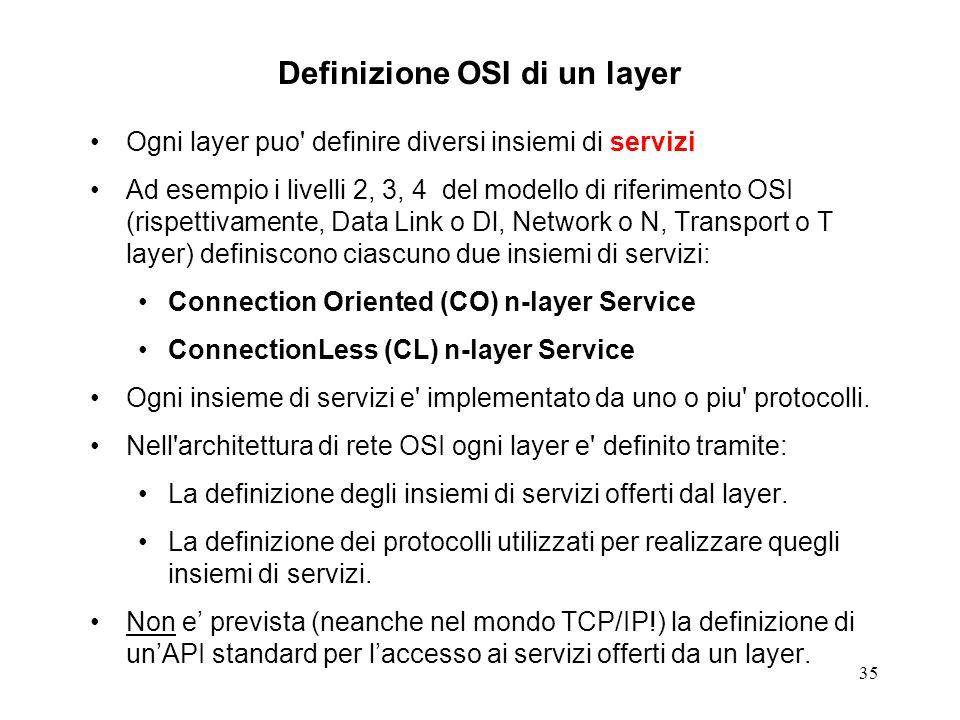 Definizione OSI di un layer