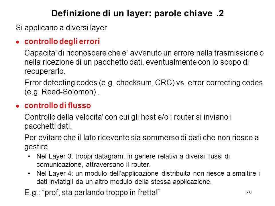 Definizione di un layer: parole chiave .2