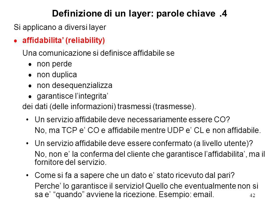 Definizione di un layer: parole chiave .4
