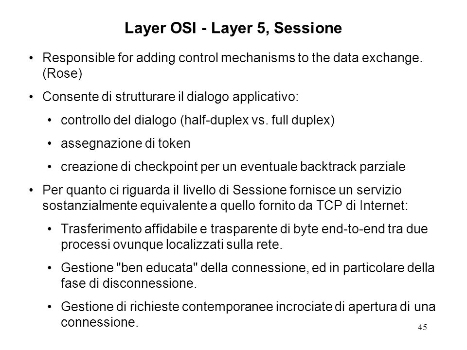 Layer OSI - Layer 5, Sessione