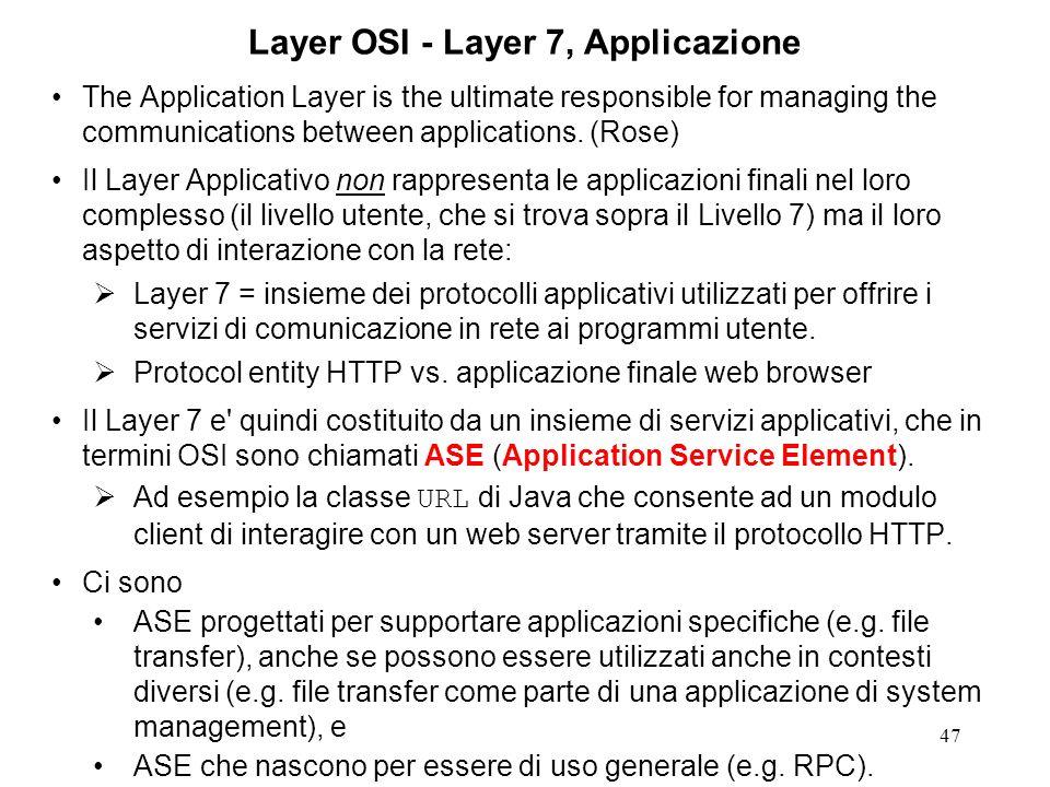 Layer OSI - Layer 7, Applicazione