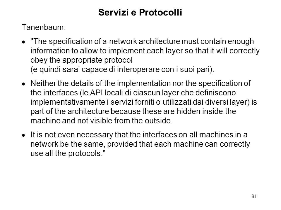Servizi e Protocolli Tanenbaum:
