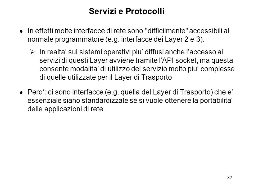 Servizi e Protocolli