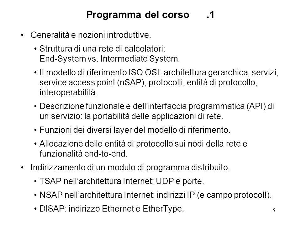 Programma del corso .1 Generalità e nozioni introduttive.